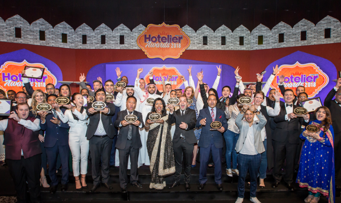 WINNERS GROUP SHOT Hotelier Middle East Awards 2018