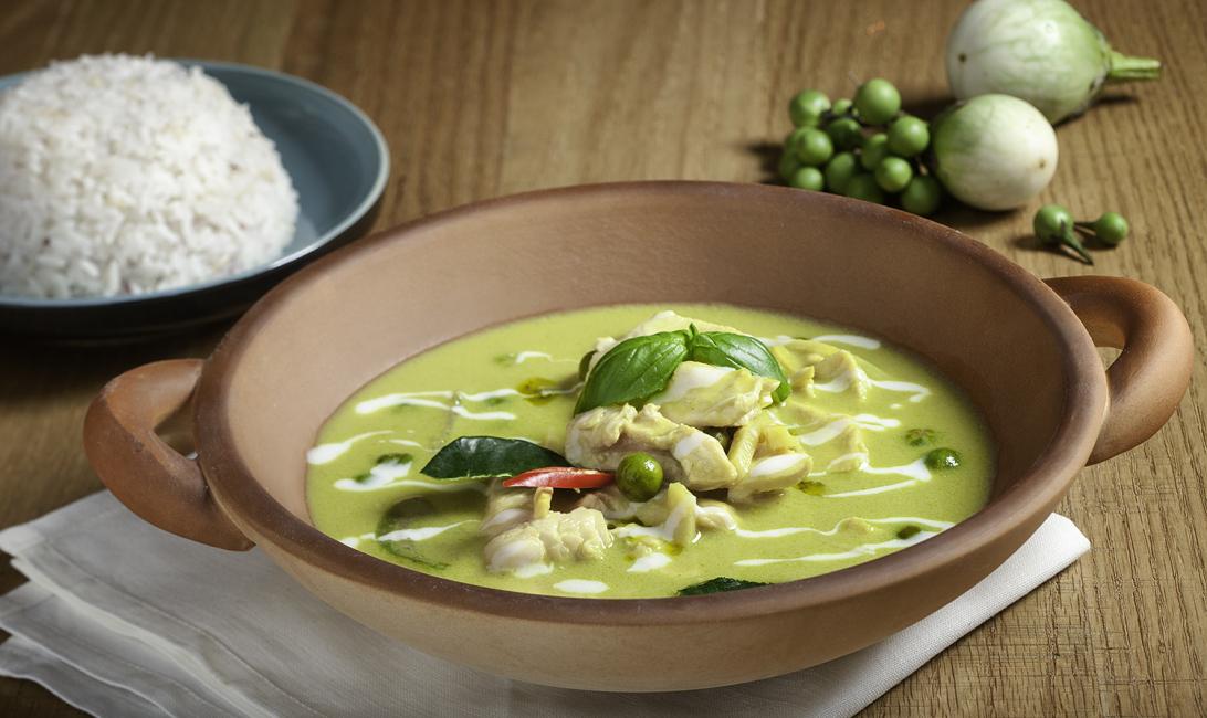 Green chicken curry at Mango Tree Thai Bistro.