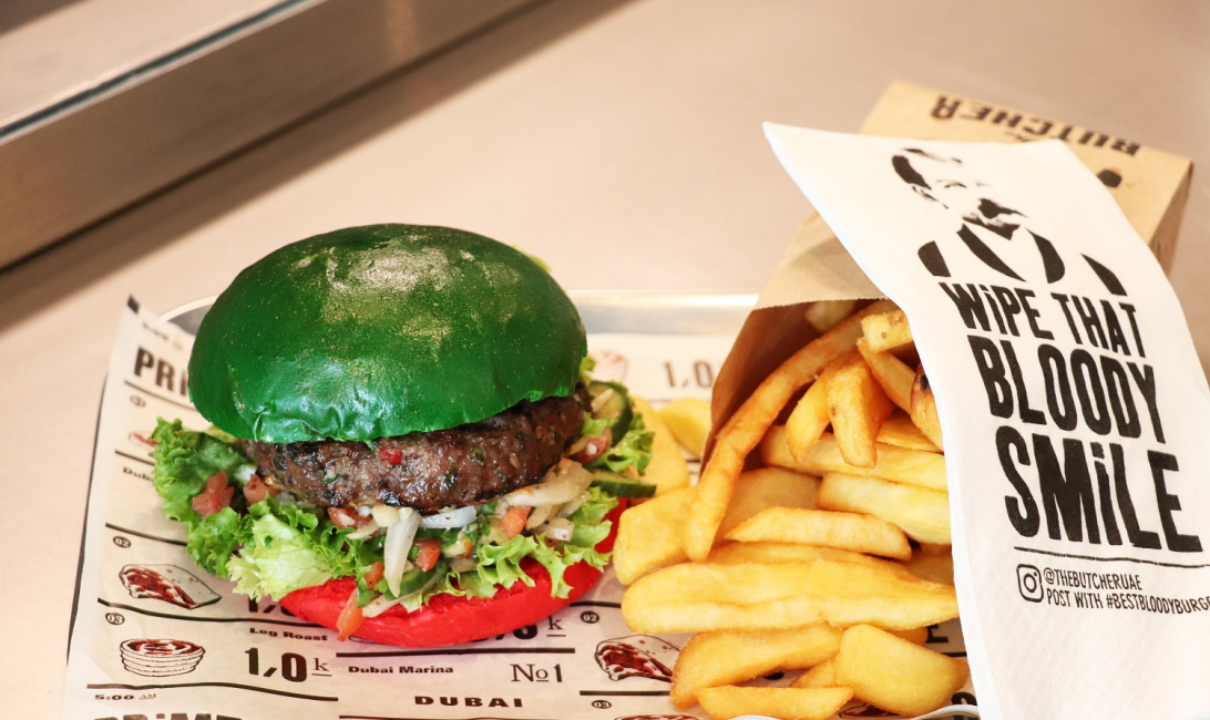 The UAE National Day burger from The Butcher.