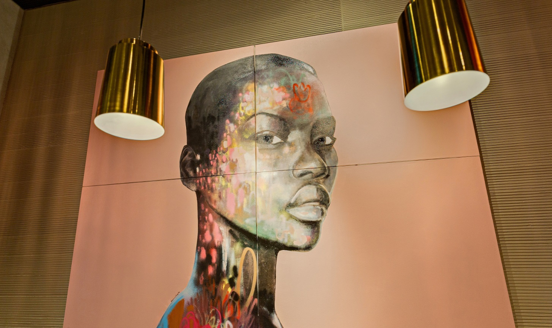 The new Nando's has three portraits by South African artist Dion Cupido.