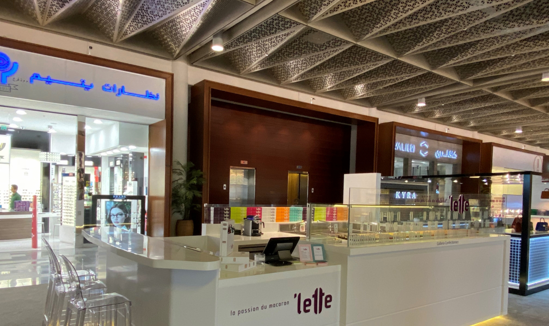 'lette macaron outlet at the Galleria Mall.