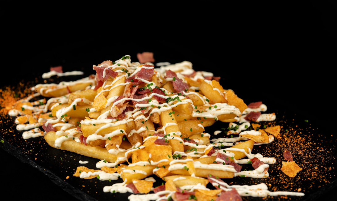 Loaded fries at Sidekick Dubai.