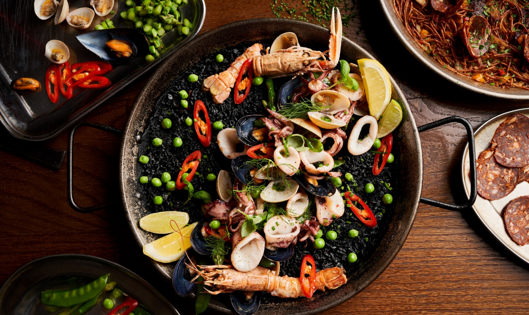 Black rice paella at Boca is now more sustainable than ever.