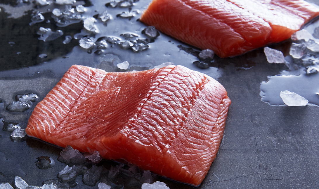 Salmon fillets from Sealand.