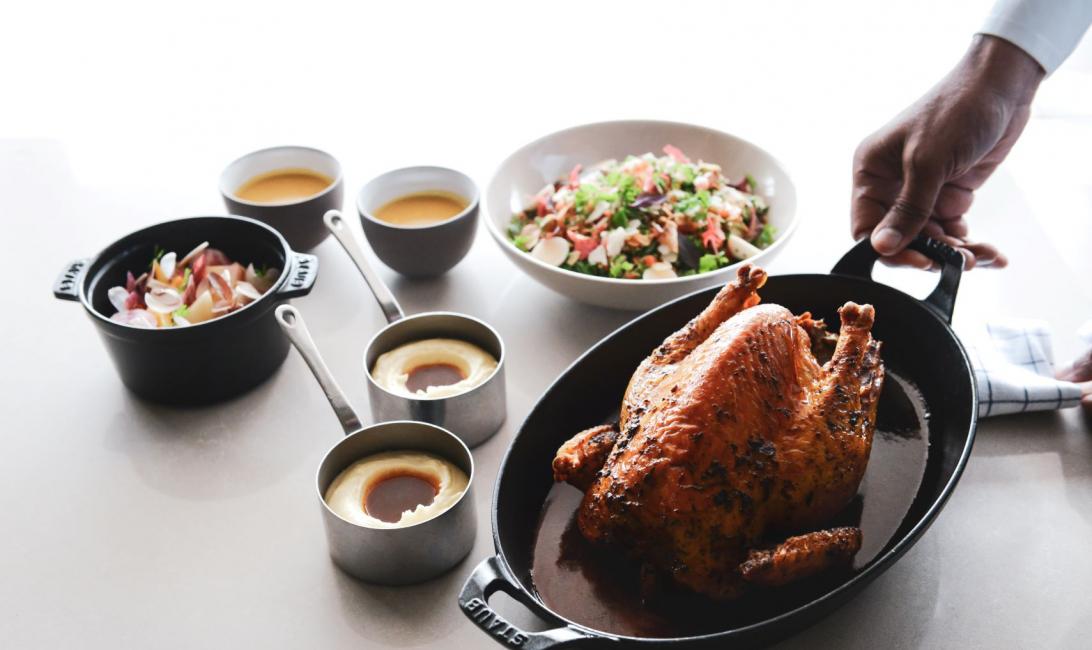 Roast chicken, Marcel ravin, Michelin star