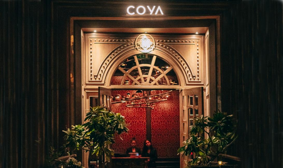 The entrance of Coya Dubai.