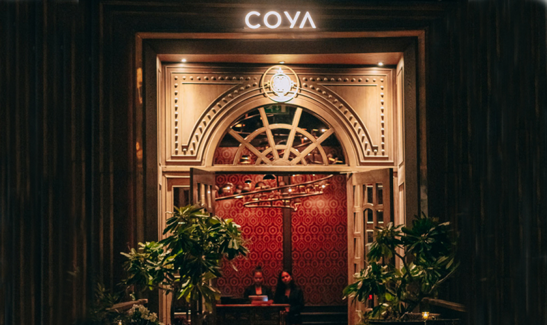 The entrance of Coya Dubai.