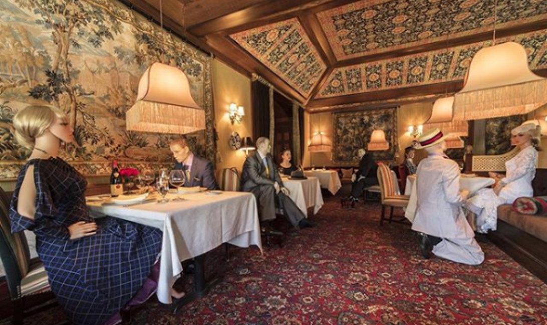 Inn at Little Washington showed how its dining room will look via Instagram
