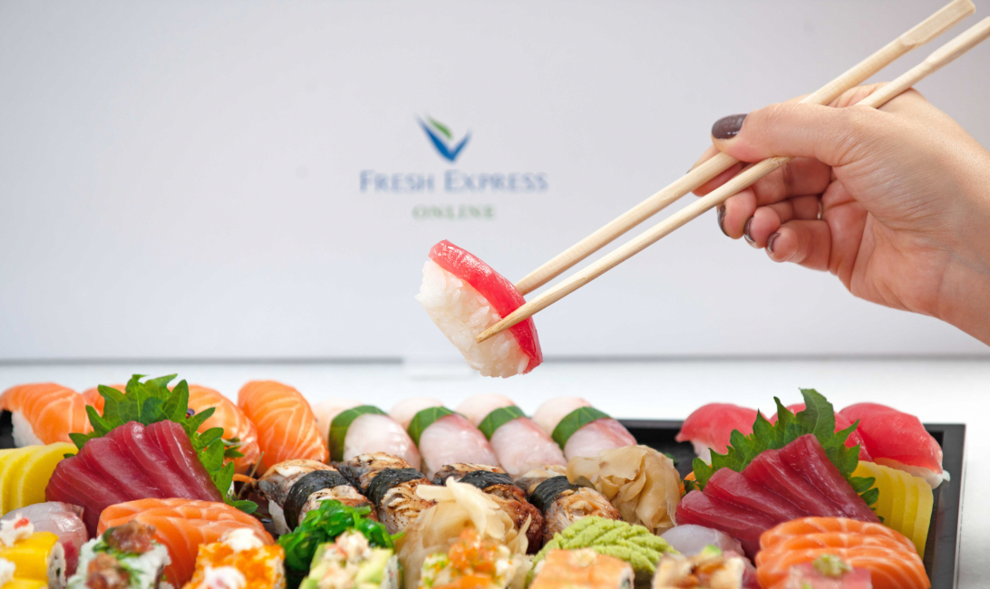 High-end sushi is available through Fresh Express Online